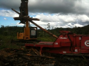 Loading the chipper 2