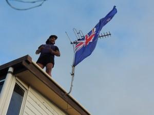 Daniel Hoisting Flag
