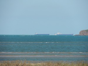 Ships waiting for hay Point