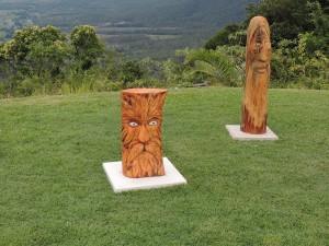 Carvings at Eungella Chalet 2