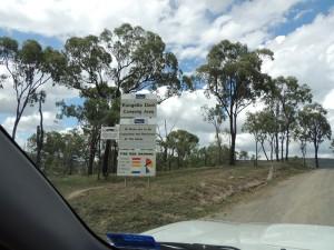 Entrance to Eungella Dam