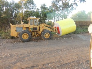 Loader with Bale