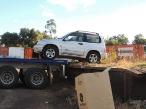 Unloading Suzi