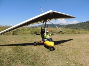 Microlight set for takeoff
