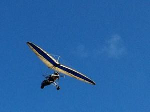 Microlight airborne