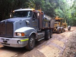 Grader & Truck