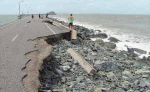 Cyclone Damage Breakwater