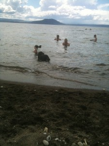 Swimmimg Lake Taupo