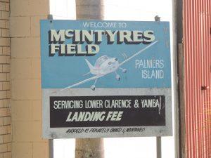 Airstrip sign
